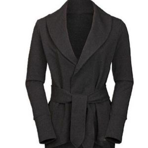 The North Face women gray belted wrap cardigan